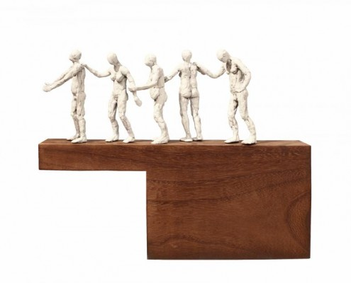 title: Guided by the blindmedium:  Bronze and ukola woodsize: 41 x 57 x 18price: Enquire