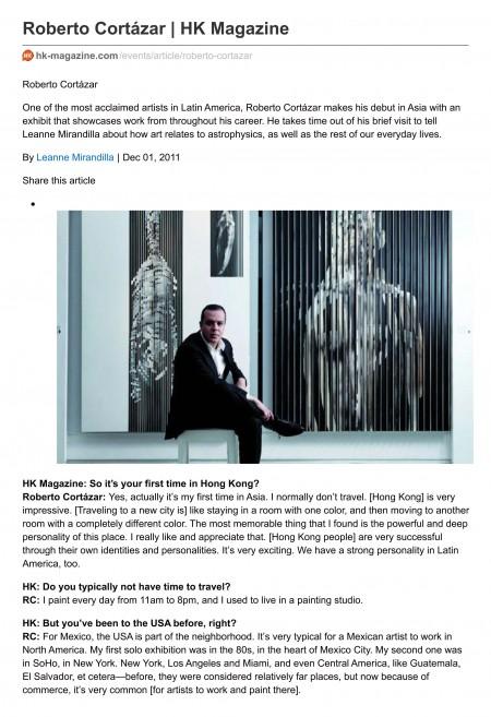 Roberto Cort‡zar | HK Magazine