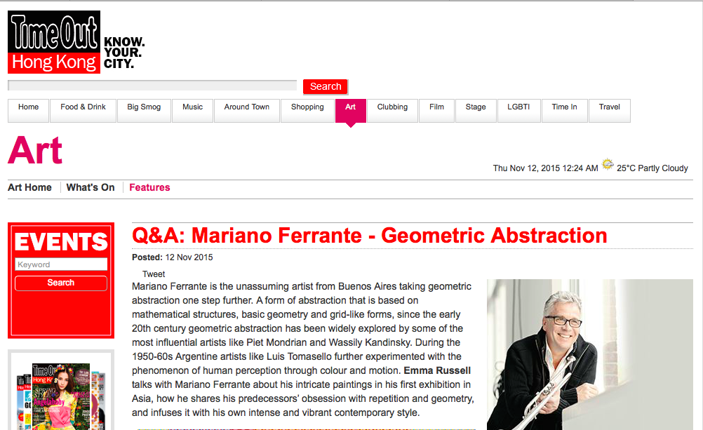 Puerta Roja | Q & A: Mariano Ferrante – Geometric Abstraction by