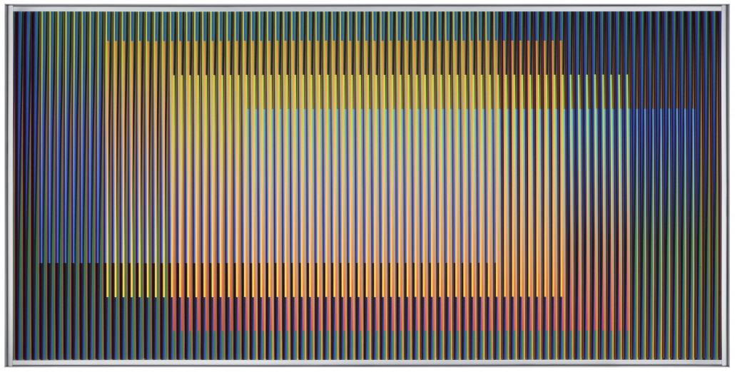 Physichrome 1920 Carlos Cruz Diez Pigment Chromography on Aluminium 2014