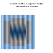 Carlos Cruz-Diez inaugurates Phillips' new exhibition platform